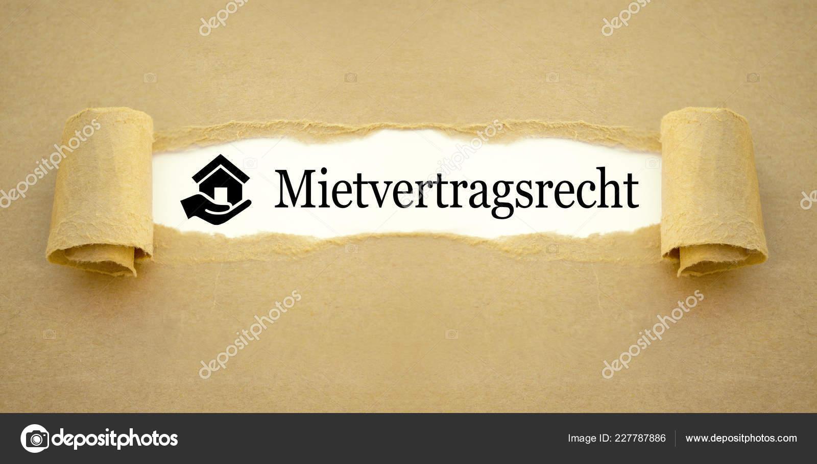 Paper Work German Word Rental Contract Law Mietvertragsrecht