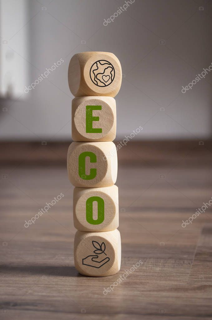 Cubes dice with eco