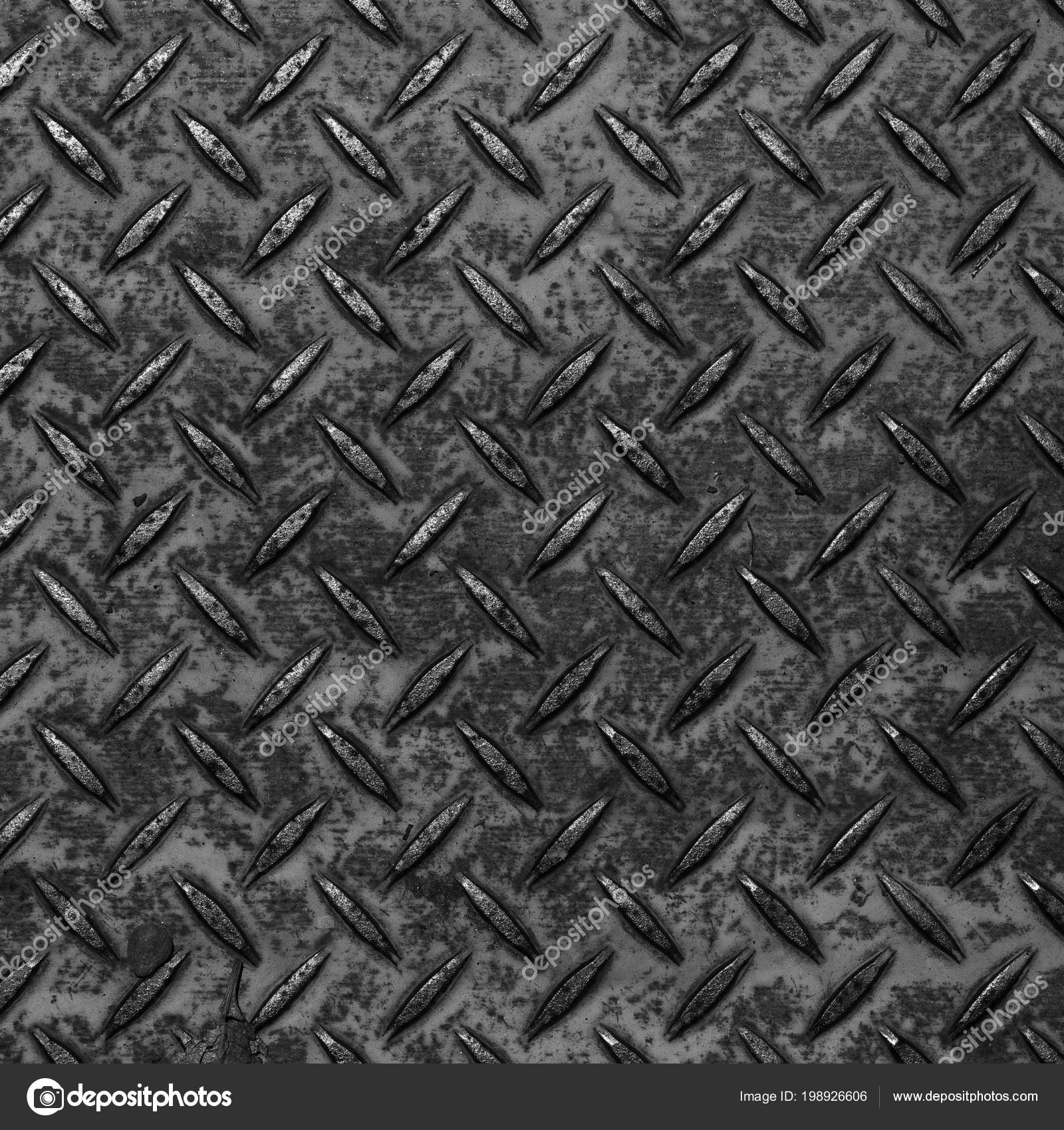 Black Diamond Plate Pattern And Background Photo By Torsakarin