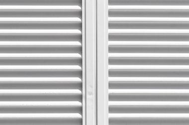 Close- up white shutter window background