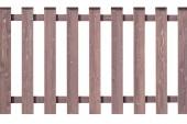 Dřevěný plot izolovaných na bílém pozadí
