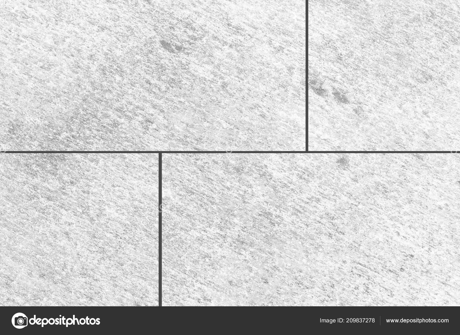 White Stone Tile Floor Pattern Seamless Background Stock Photo