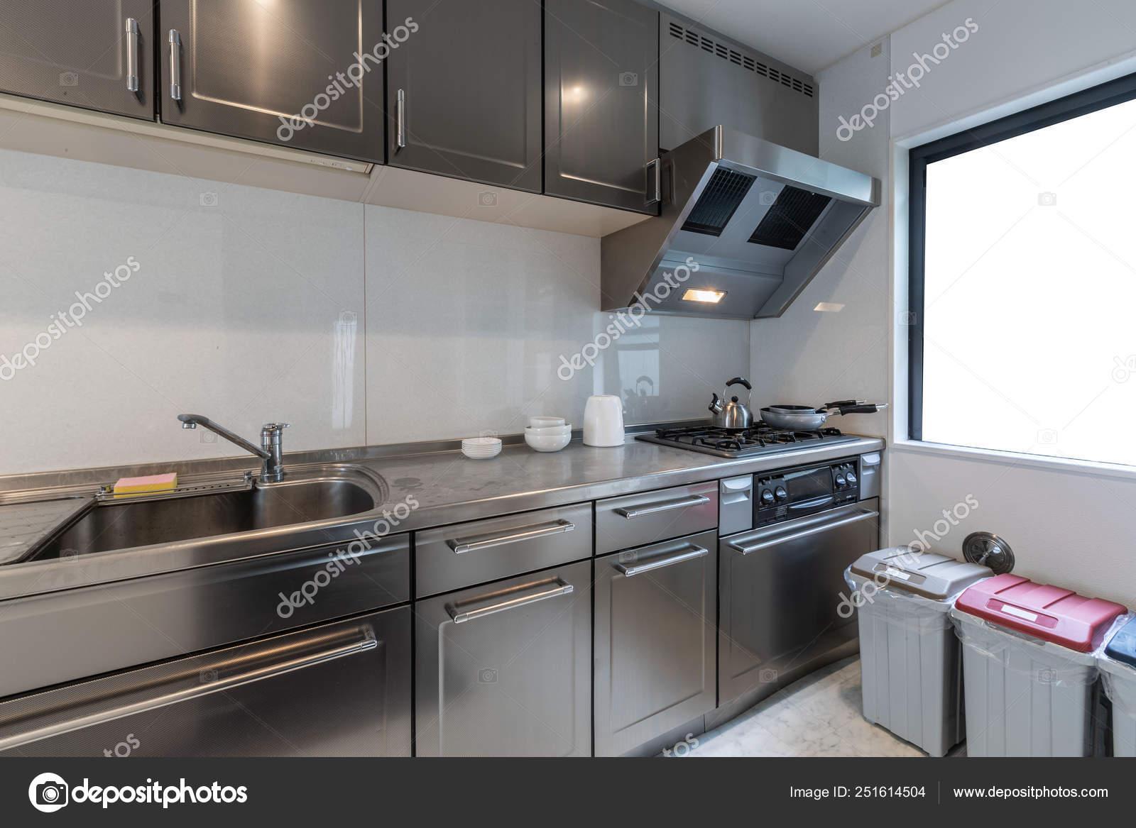 Modern Kitchen Stainless Steel Kitchen Cabinets Stock Editorial Photo C Torsakarin 251614504