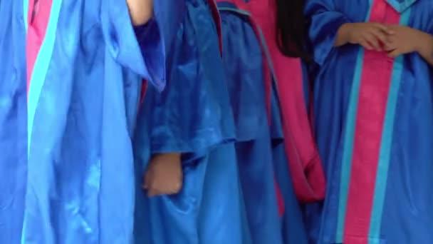Usa Vestido De Graduación Preescolar Niños De Cerca