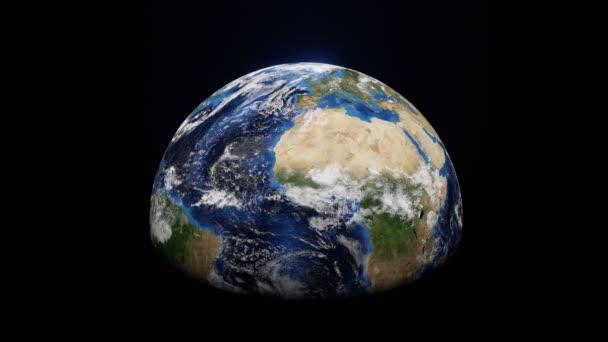 World spinning animáció 3D-s renderelés, bolygó Föld elemek NASA