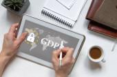 GDPR. adatvédelmi rendeletben. Számítógépes biztonság és adatvédelem.