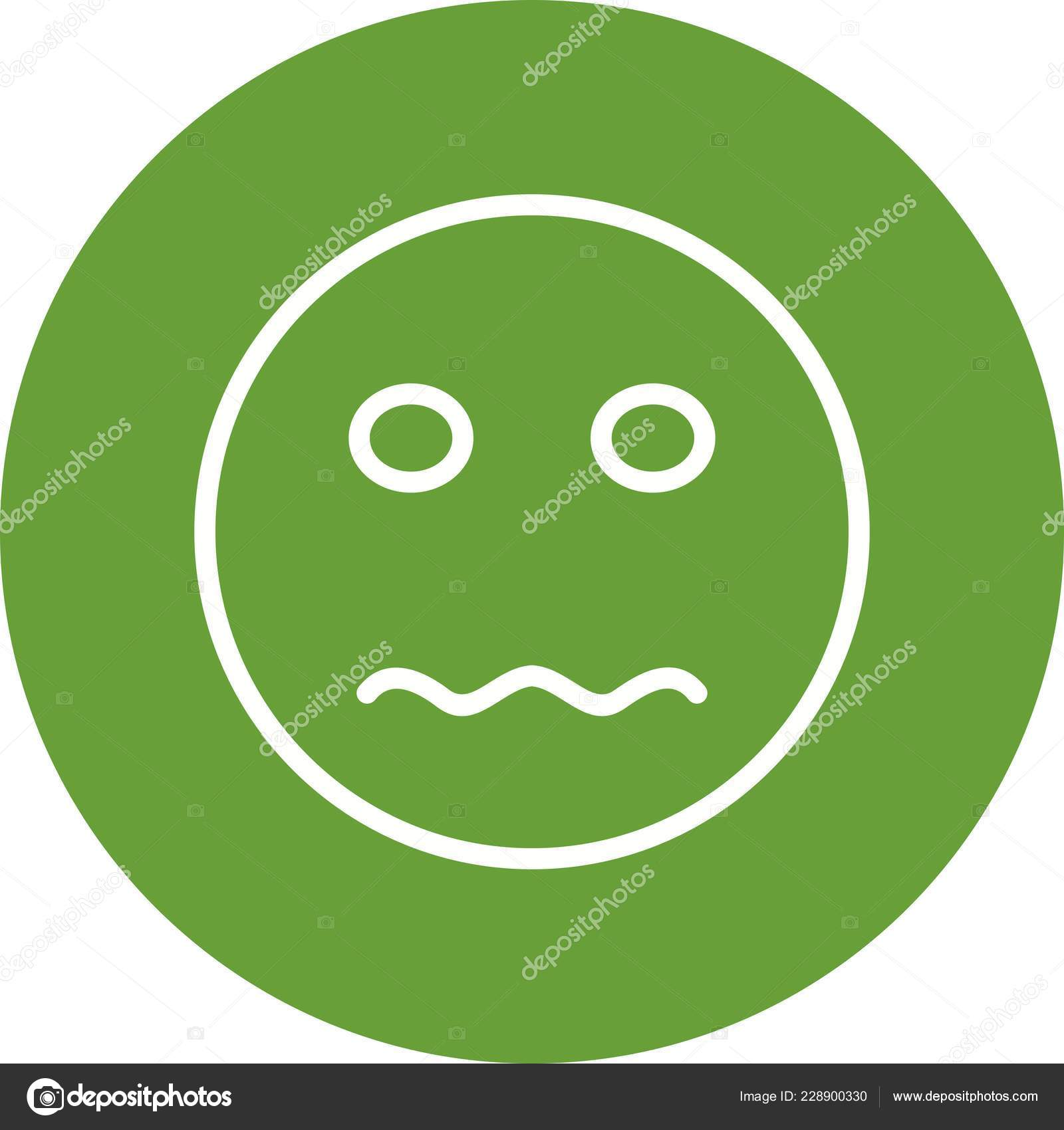 Nervous Emoji Vector Icon Sign Icon Vector Illustration
