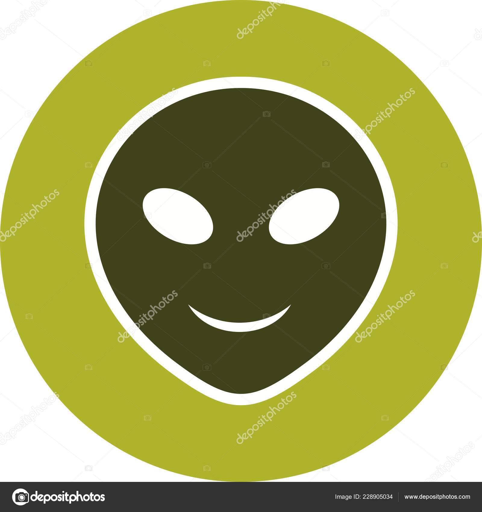 Alien Emoji Vector Icon Sign Icon Vector Illustration