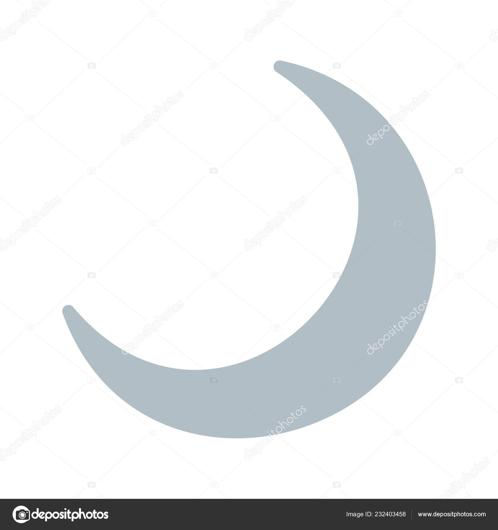 crescent moon vector icon sign icon vector illustration personal commercial stock vector c iyikon 232403458 depositphotos