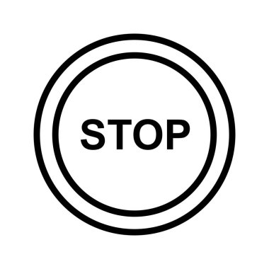 Vector Stop Icon Sign Icon Vector Illustration For Personal And Commercial Use..
