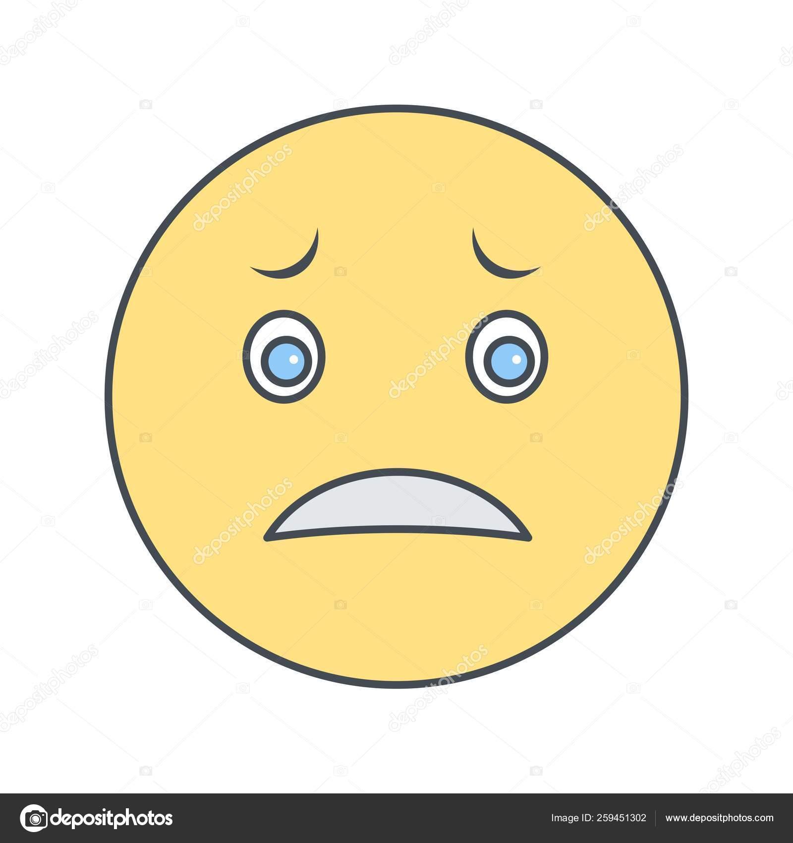 Illustration Nervous Emoji Icon — Stock Photo © IYIKON