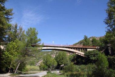 bridge in Montanejos over Mijares River Castellon spain