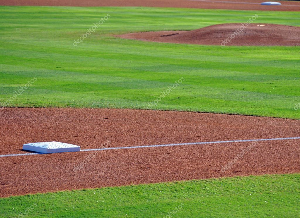 Bases and pitchers mound