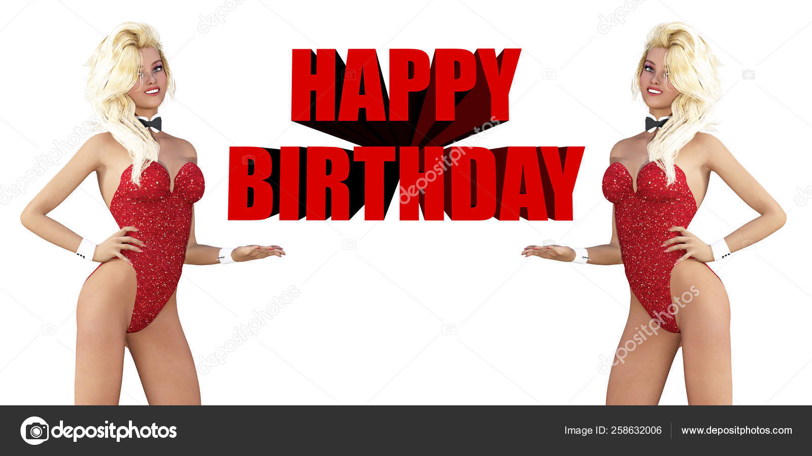 Happy Birthday Sexy Ladies Smiling You Stock Photo Image By C Yayimages 258632006
