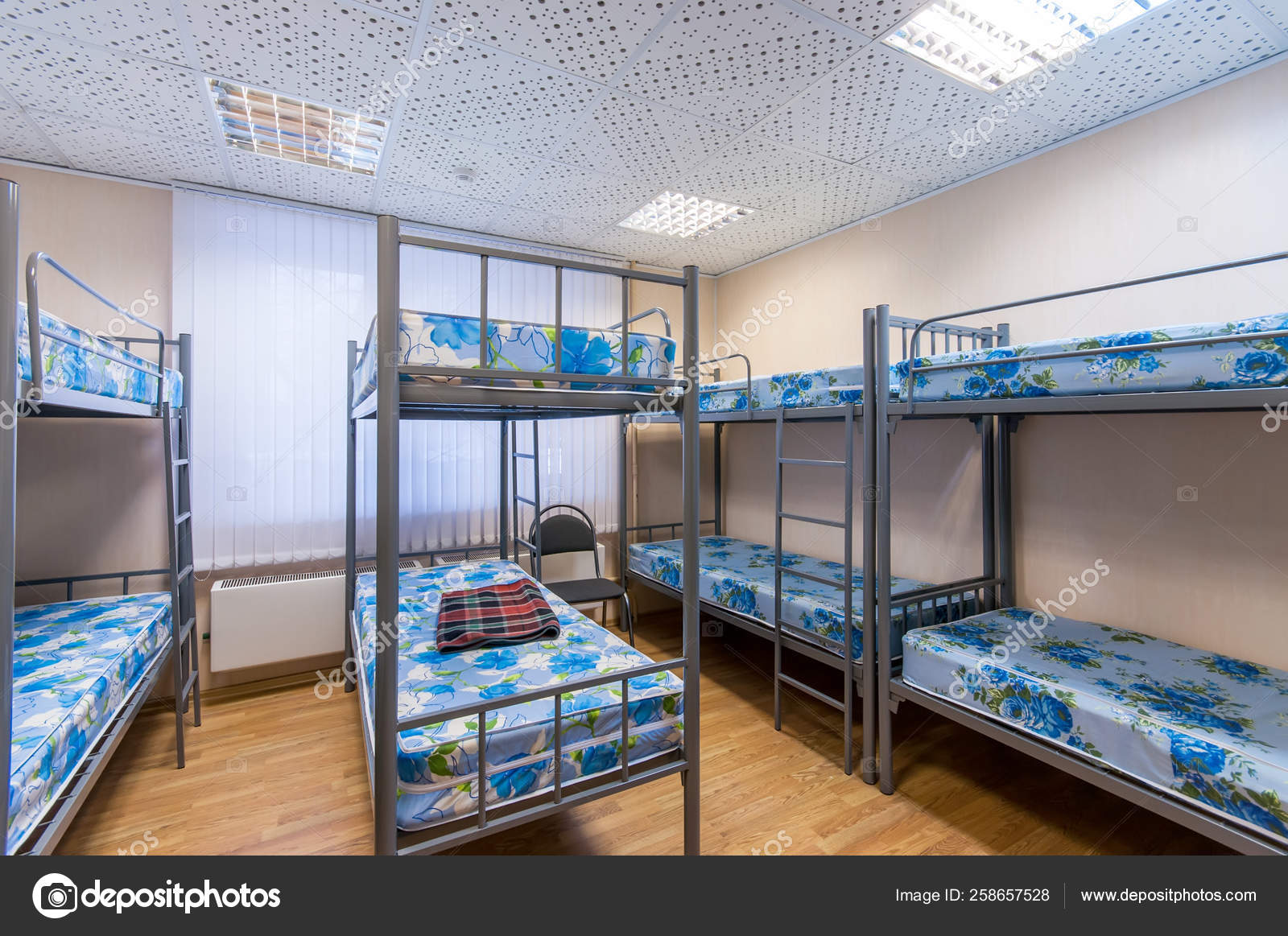 Bunk Metal Beds Clean Hostel Room Stock Editorial Photo C Yayimages 258657528