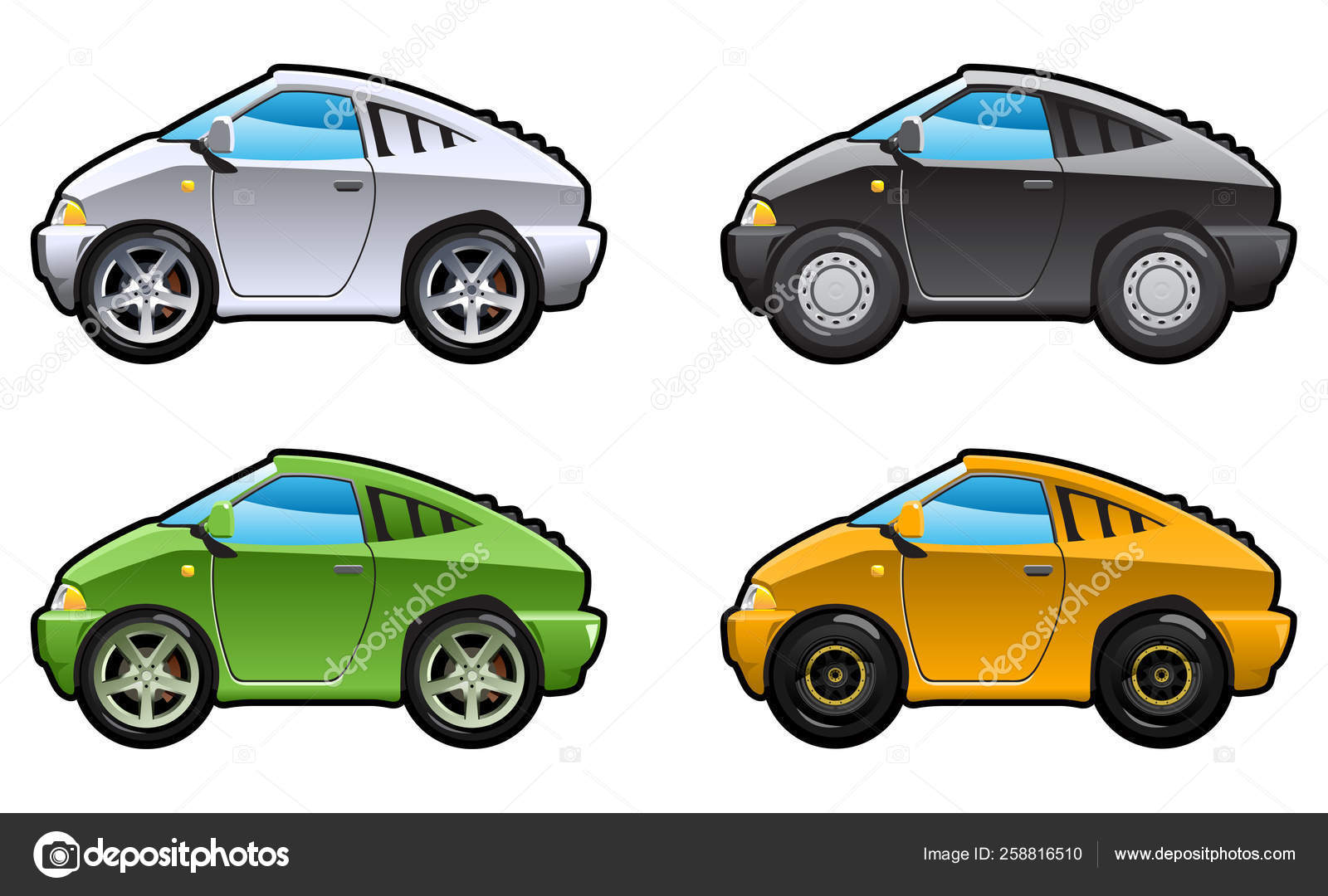 Sport Car Part Collections Car Body Style Simple Gradients