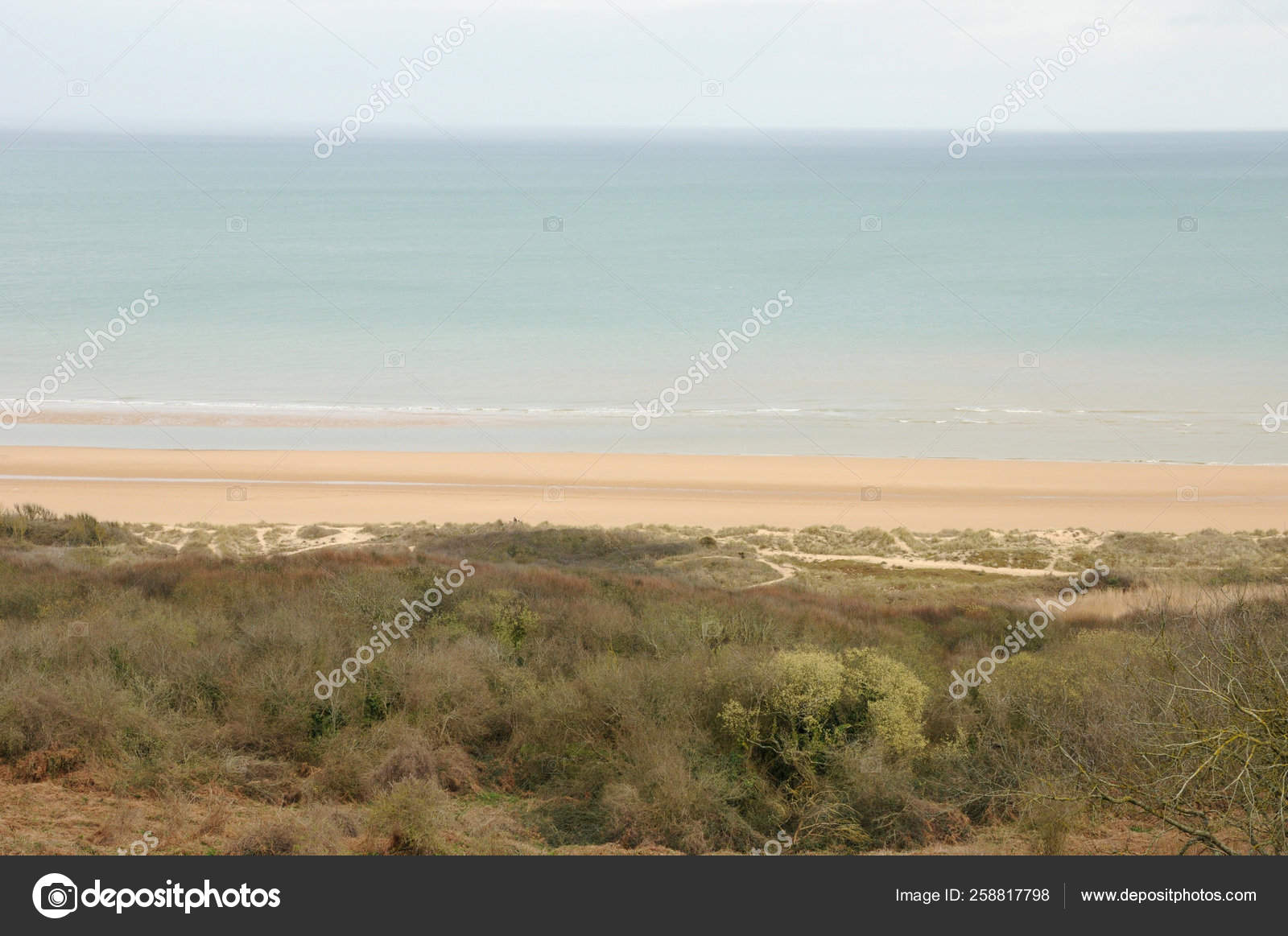 Omaha Beach Colleville Sur Mer Normandy — Stock Photo