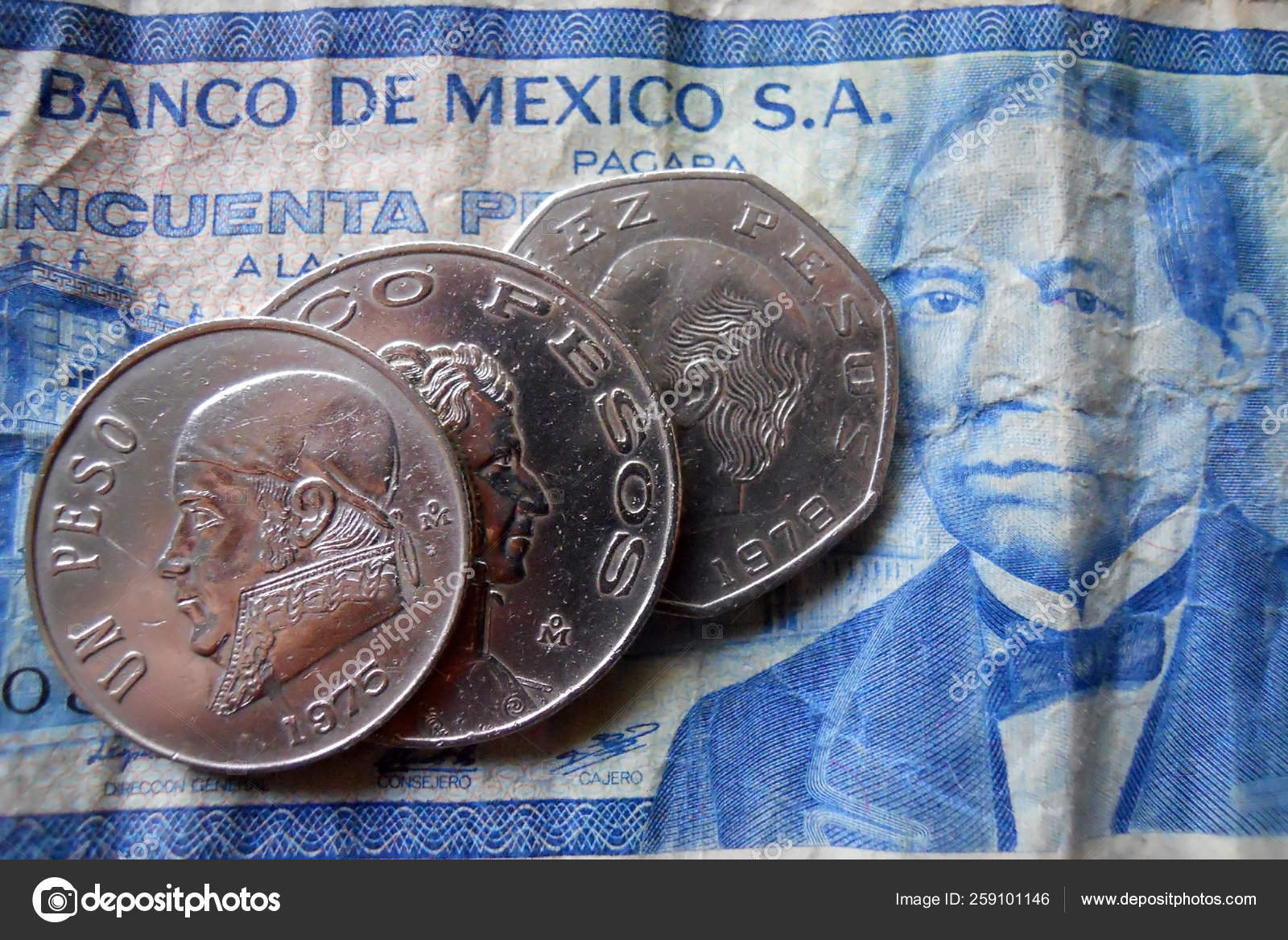 Mexican Money Peso Coins Centavo Bill Excellent Condition