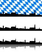 Silhouette von Straubing, Bayern