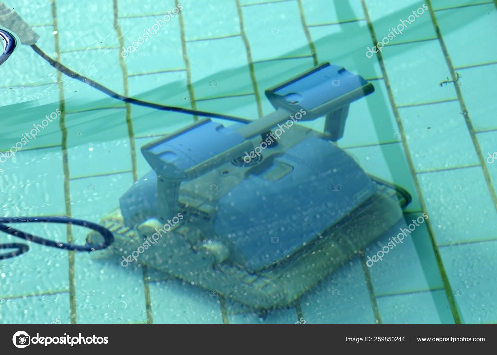 Photograph Robot Cleaning Swimming Pool — Stock Photo ...