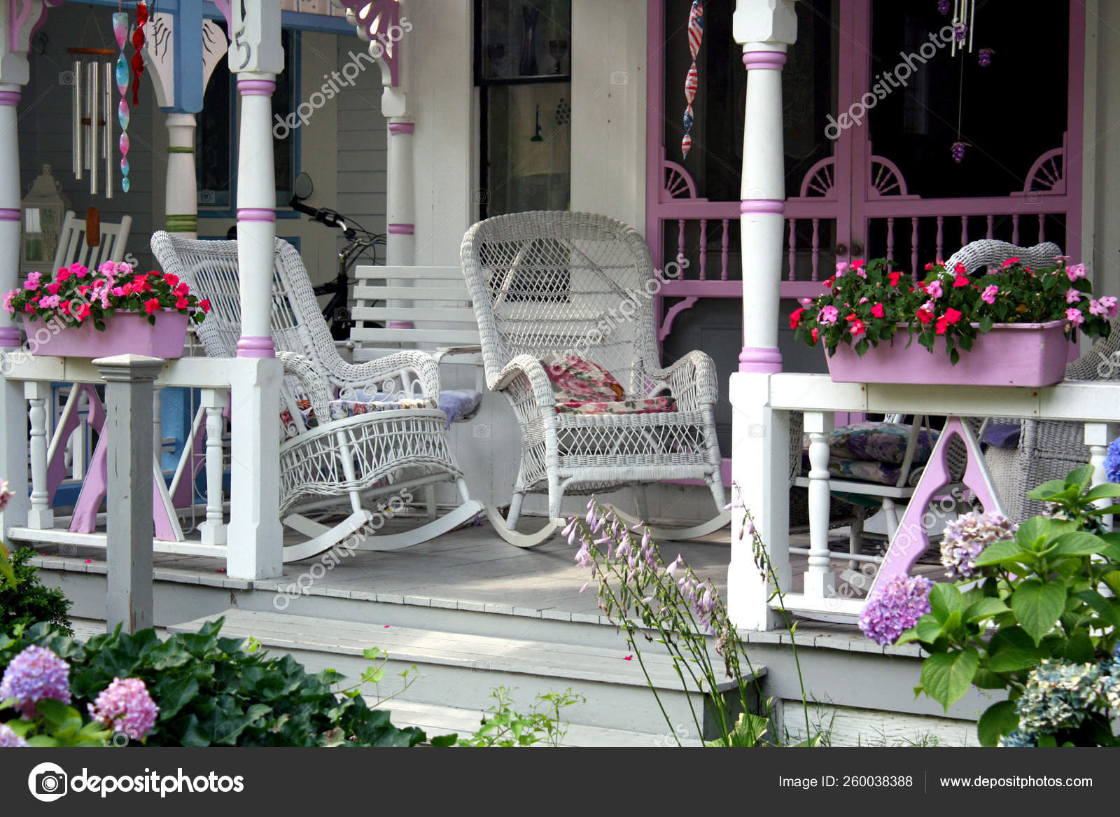 Prime Rocking Chairs Martha Vineyard Porch House Stock Photo Caraccident5 Cool Chair Designs And Ideas Caraccident5Info