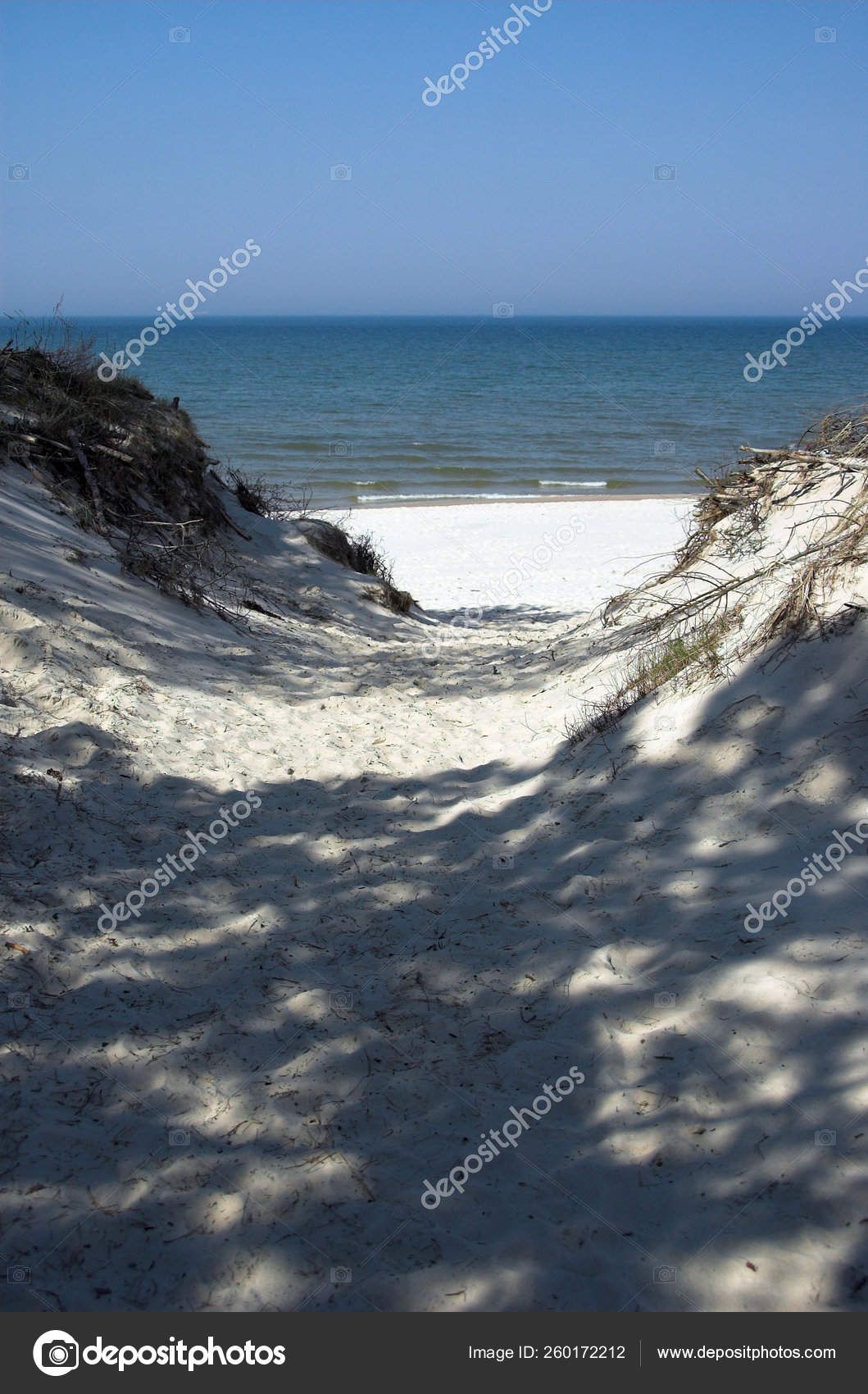 Blue Landscape Baltic Sea Wallpaper Postcart Water Stock Photo C Yayimages 260172212