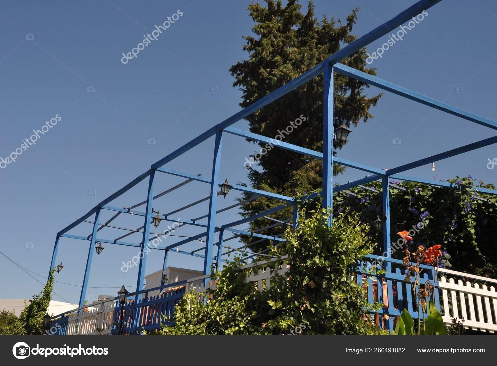 Gorgeous Outdoor Terrace Restaurant Zia Kos Island Greece Stock Photo C Yayimages 260491082
