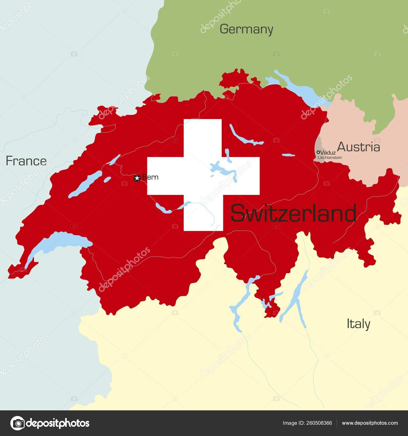 Picture of: Abstract Vector Color Map Switzerland Country Coloured National Flag Stock Photo C Yayimages 260508366