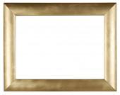 Egy üres, aranybevonatú favázas, fehér