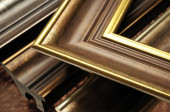Modern arany képdoboz díszlécek