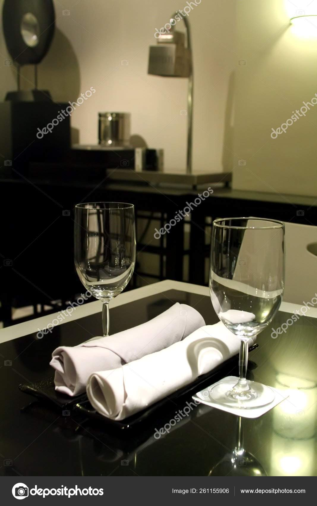 Elegant Restaurant Interior Table Setting Black White Theme Stock Photo C Yayimages 261155906,Good Plants For Office Spaces