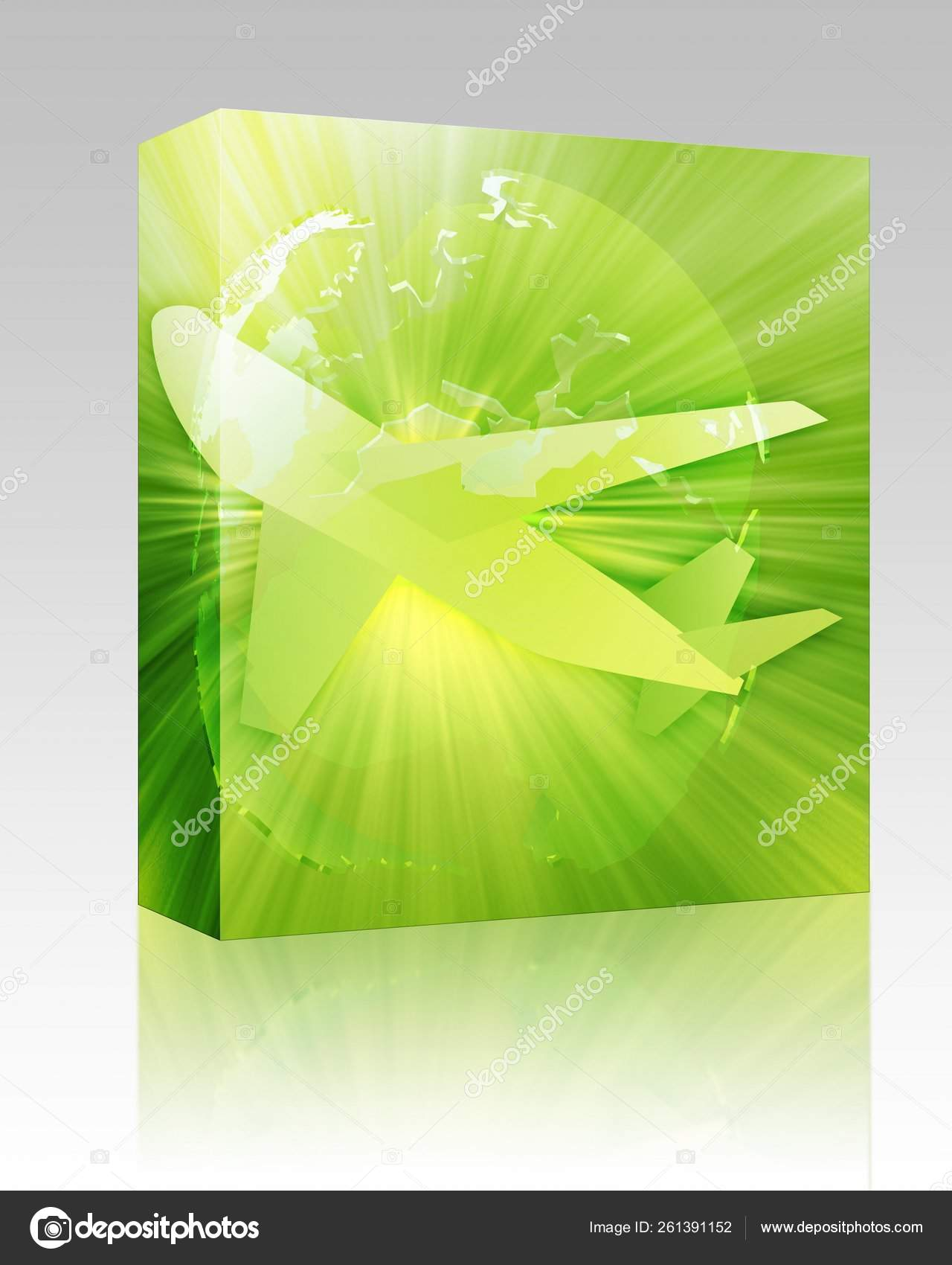 Software Package Box International Air Travel Airplane Globe Europe Africa Stock Photo C Yayimages 261391152