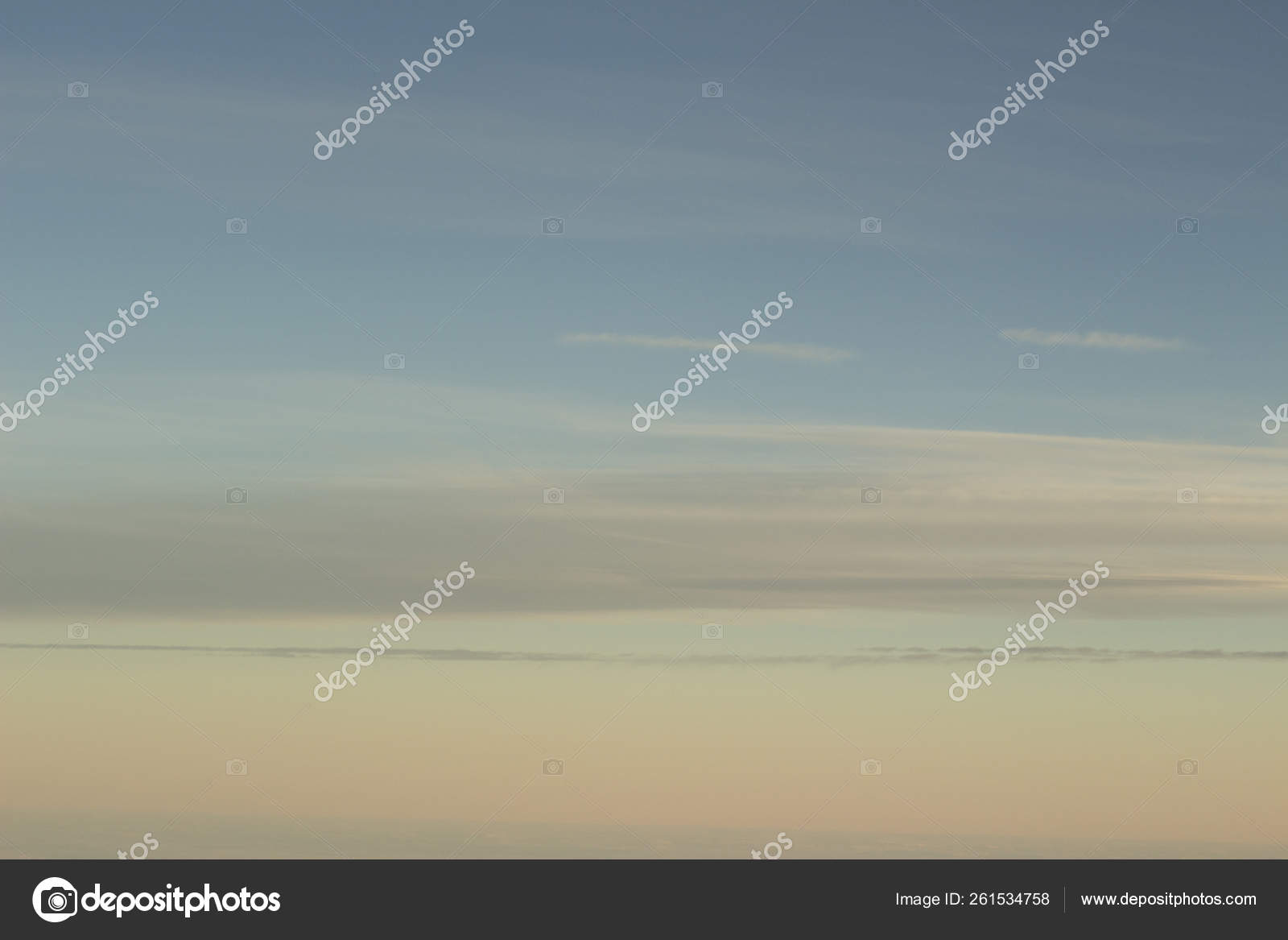 Sky Clouds Blue Pink Purple Sunset Evening Pastel Colors Photo Stock Photo C Yayimages 261534758