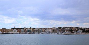 Panoramic view of Anzio and Nettuno old town, Italia