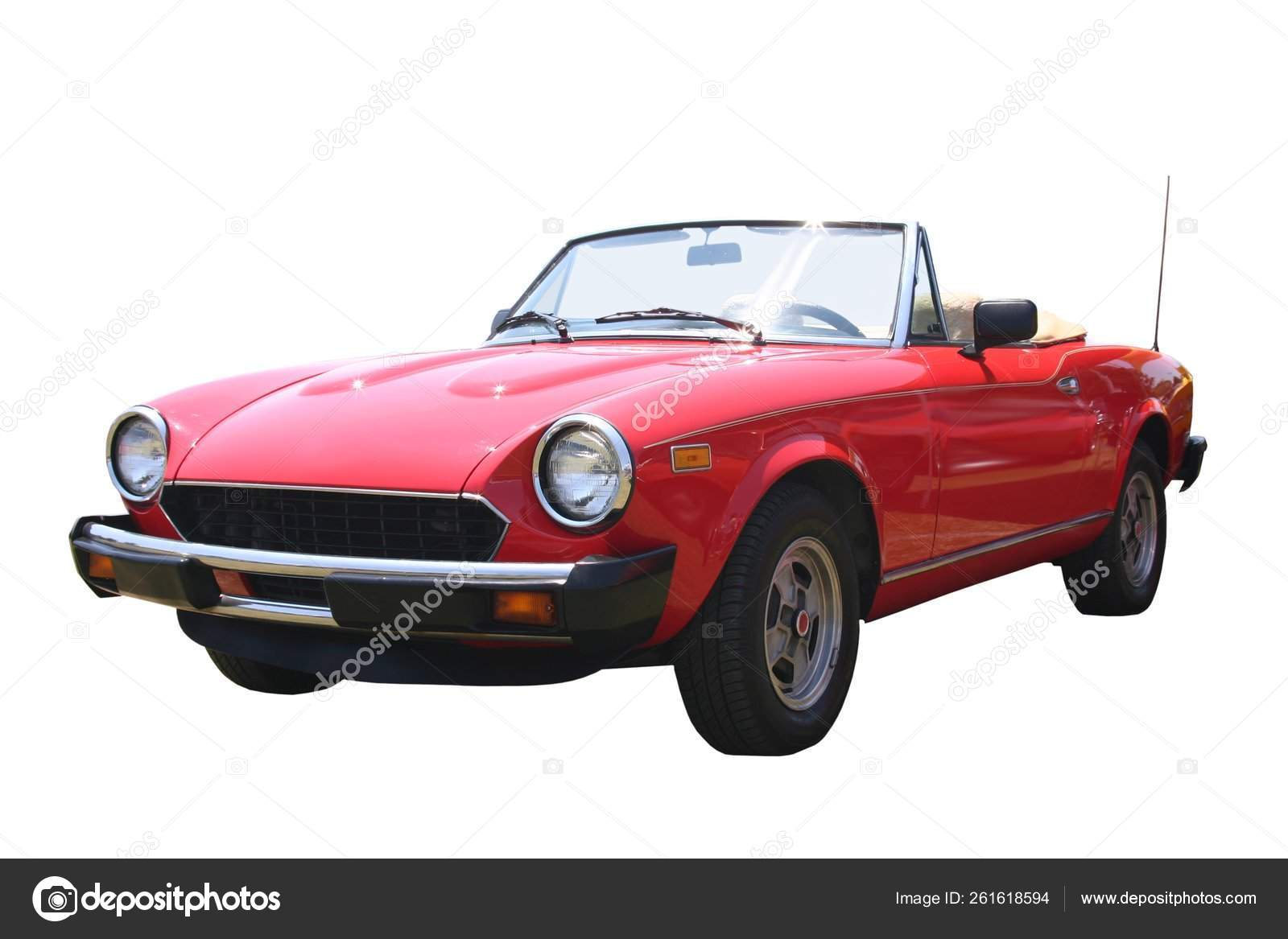 Picture Small 1980s Red Italian Convertible Top Has Been Isolated Stock Editorial Photo C Yayimages 261618594