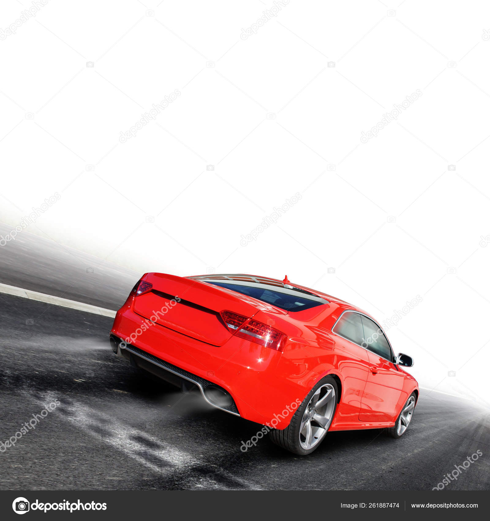 Red Sports Car Colorful Background Stock Editorial Photo C Yayimages 261887474