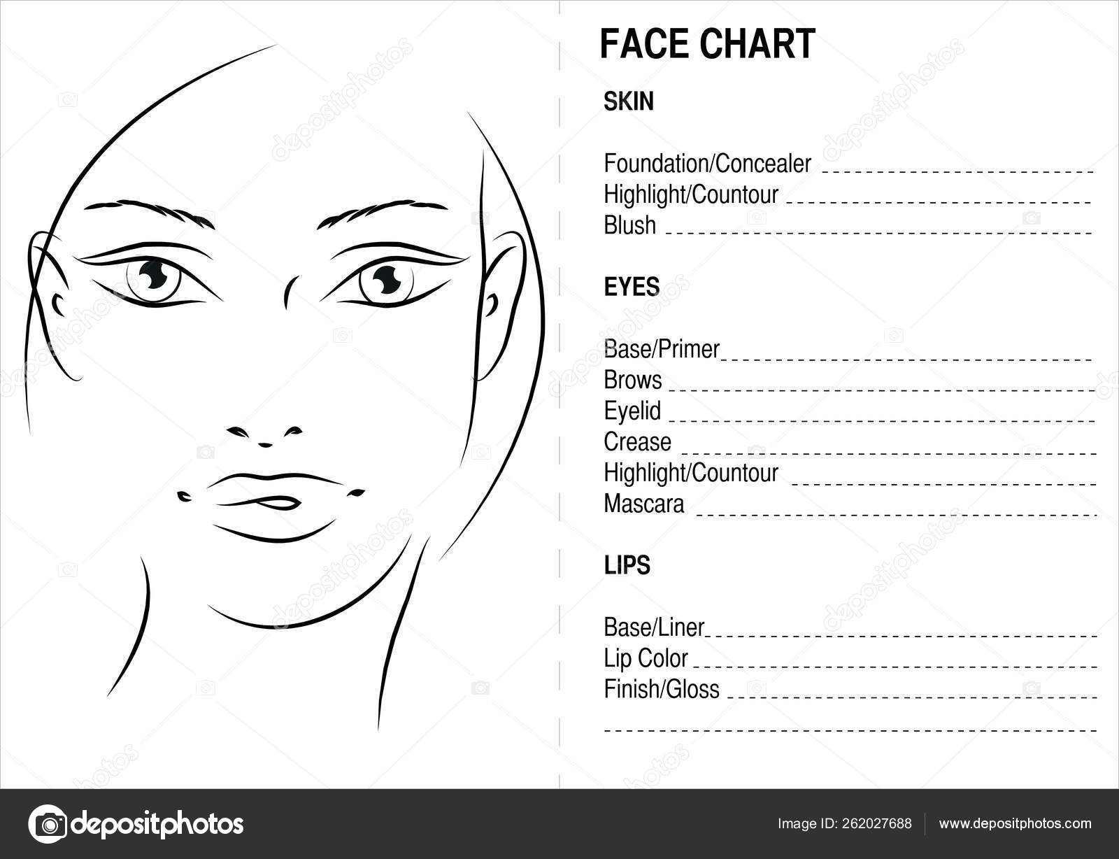 Face Chart Makeup Artis Blank Face Charts Stock Photo By C Yayimages 262027688