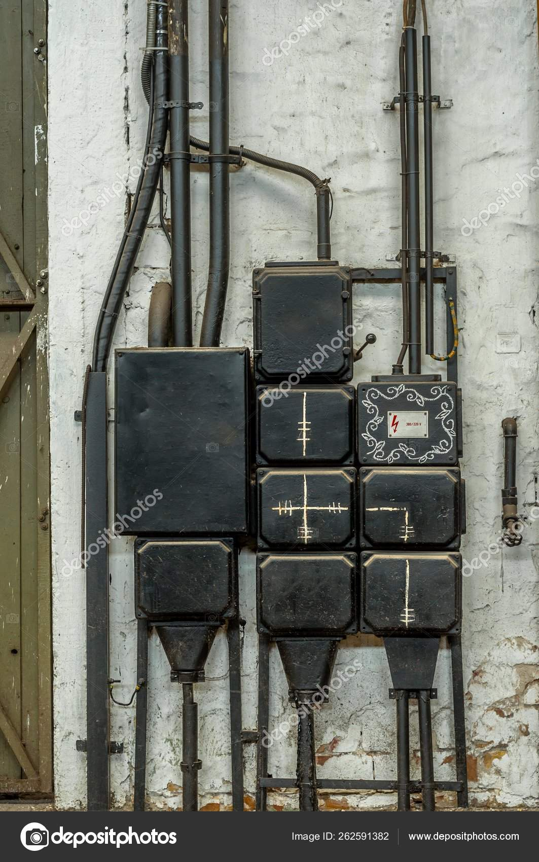 industrial fuse box wall closeup photo — stock photo © yayimages #262591382  depositphotos