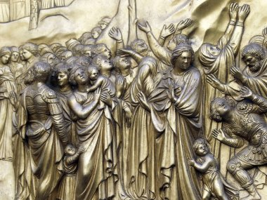 Florence - Baptistery , Panel of the Door of Paradise