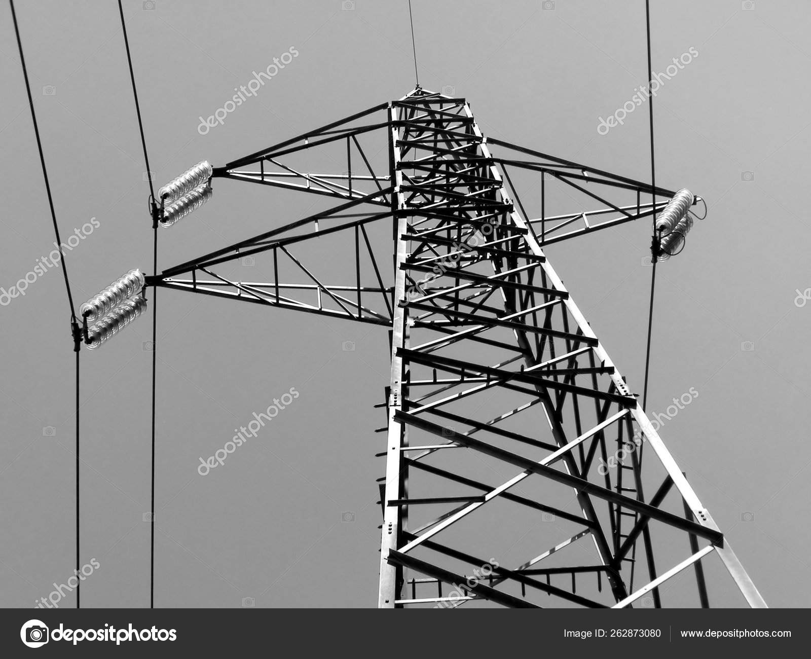 Electric Transmission Line Tower Stock Photo C Yayimages 262873080