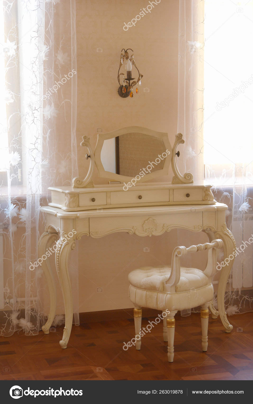 Antique Dressing Table Mirror Window Stock Photo Image By C Yayimages 263019878