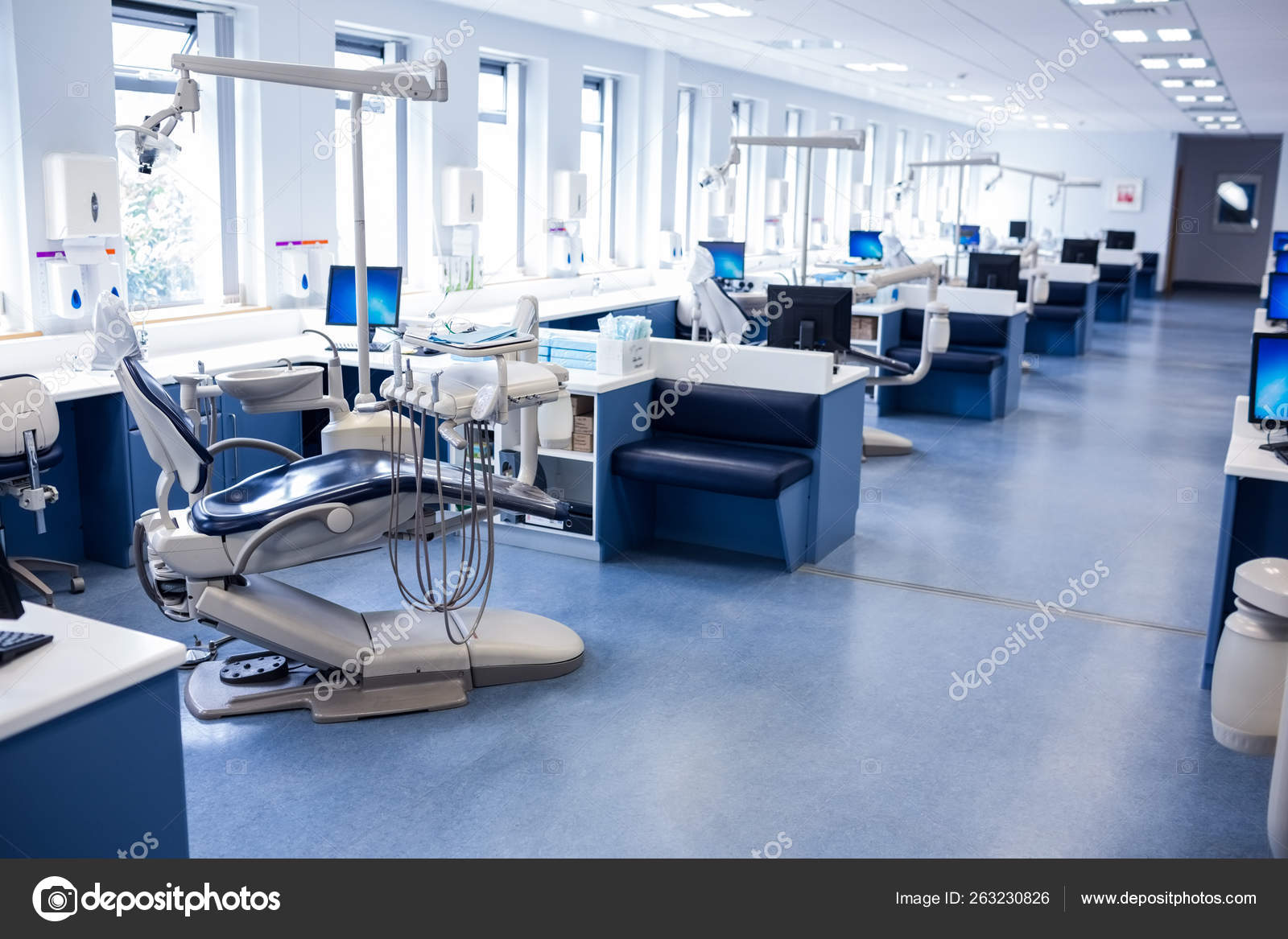 Clinic Dentists Chairs Dental Hospital Stock Photo C Yayimages 263230826