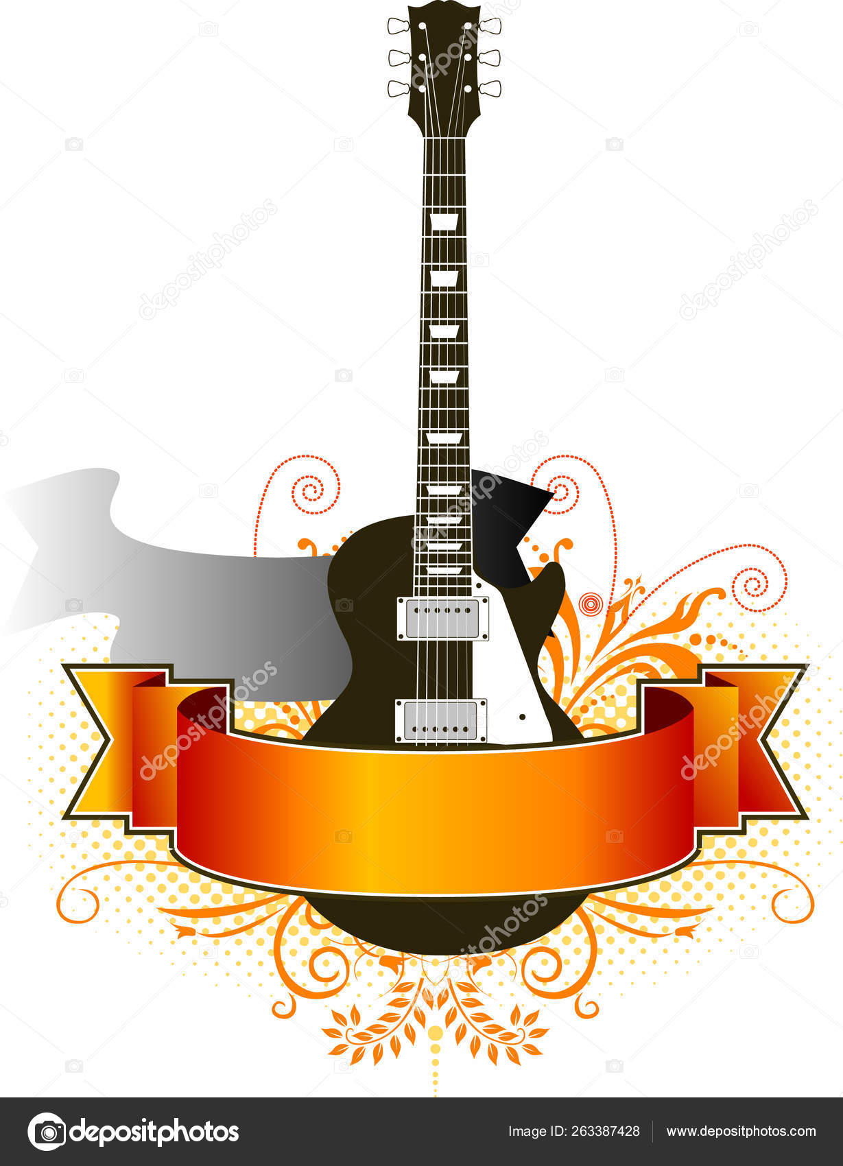 Guitar Vector Banner Design Template Stock Photo C Yayimages 263387428