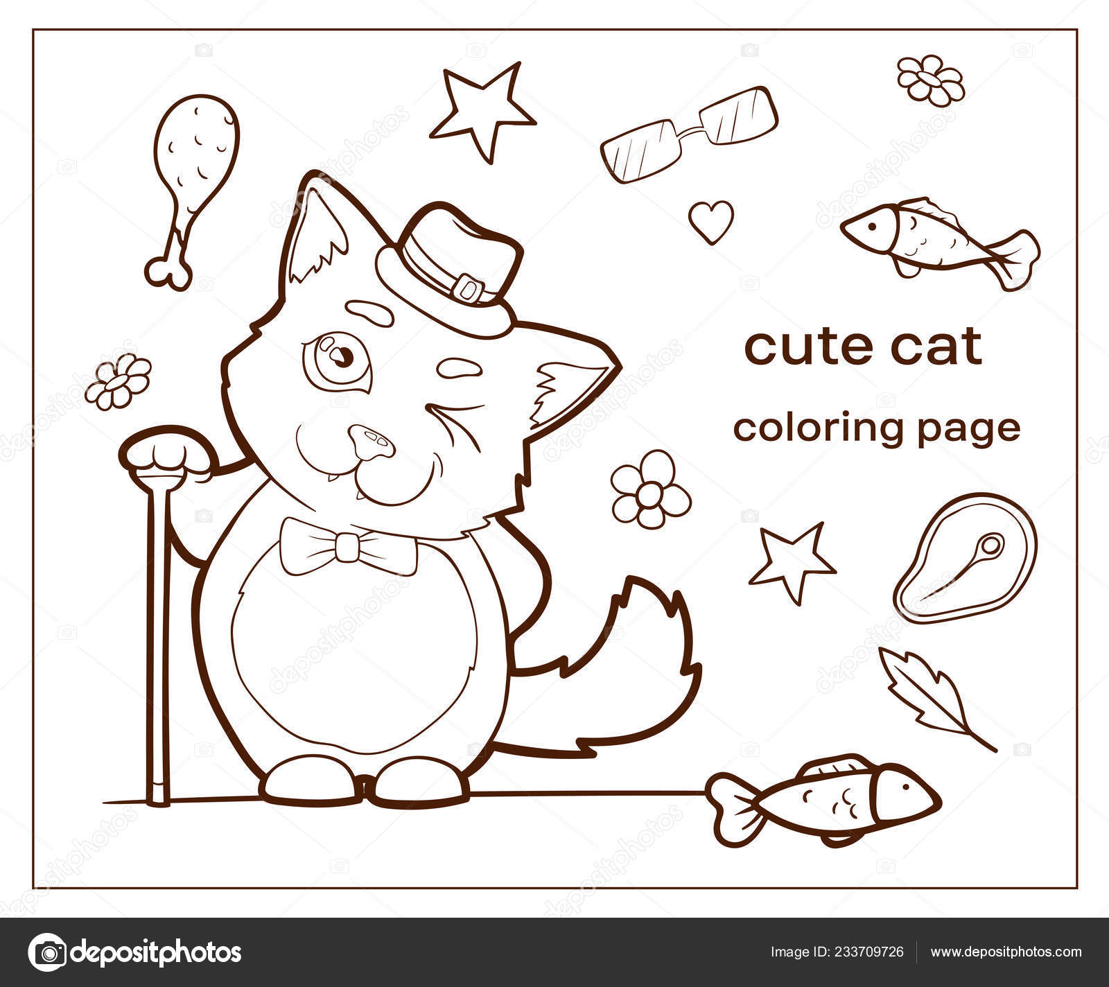 Image Vectorielle Chat Personnage Dessin Animé Doodle Dessinés Main