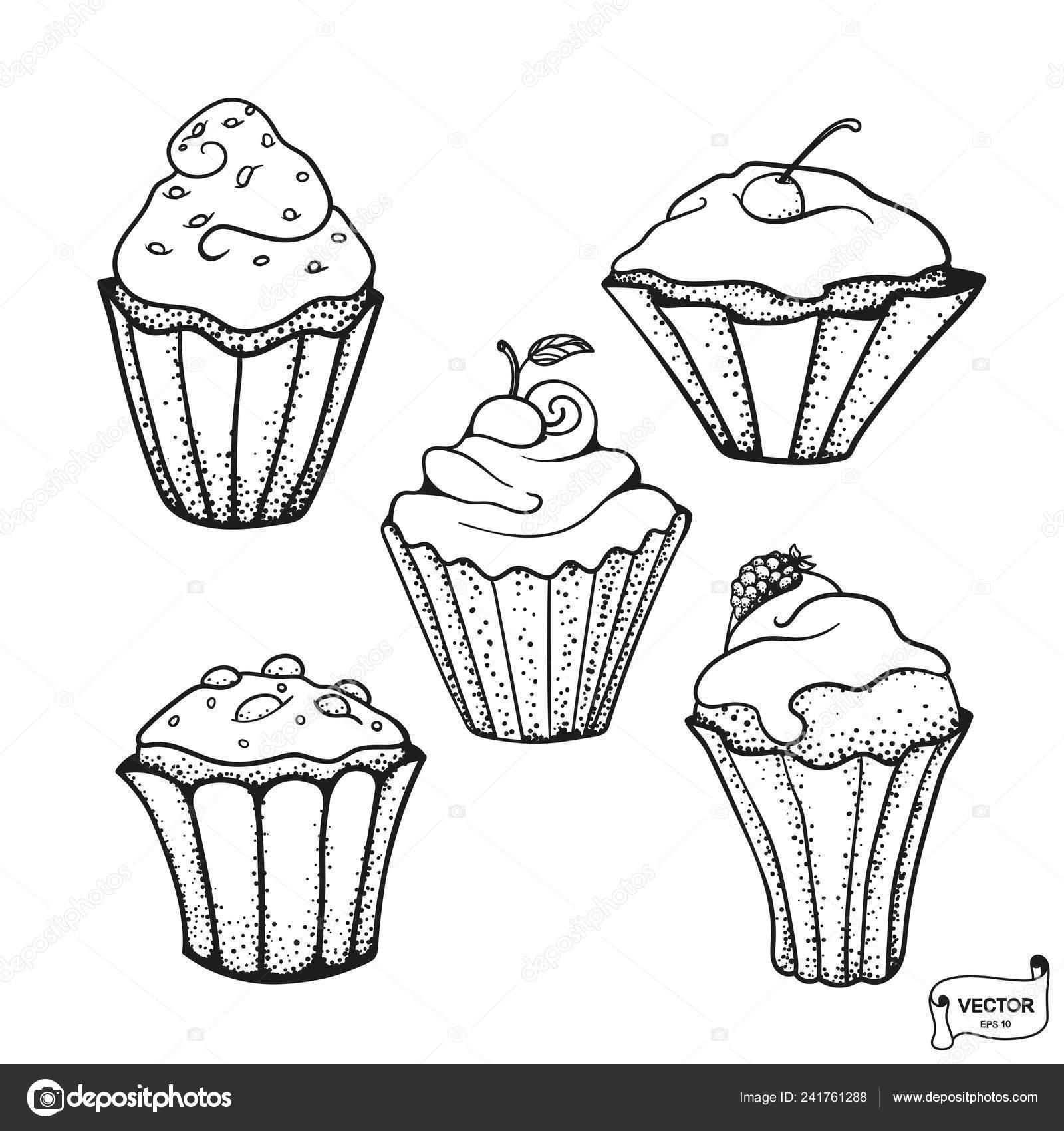 Vector Imagen Dibujado Mano Para Colorear Páginas Con