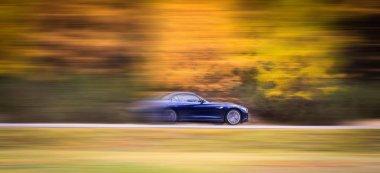 sports car in speed