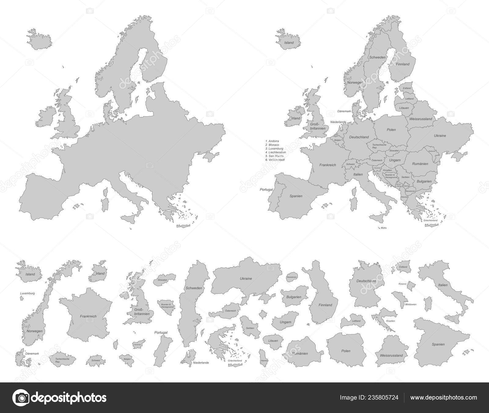Europe Political Map Europe — Stock Vector © ii-graphics #235805724
