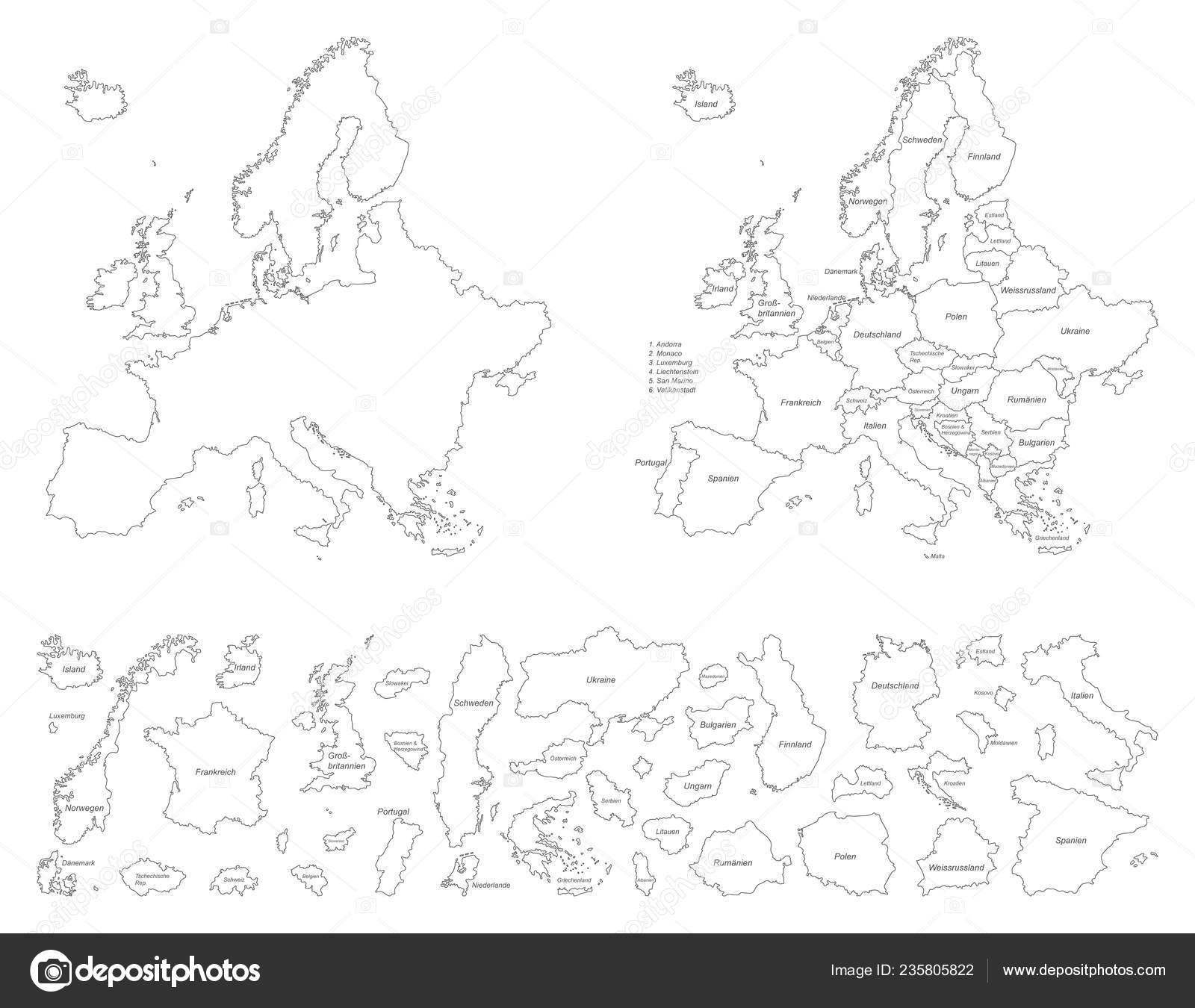 Europe Political Map Europe — Stock Vector © ii-graphics ...