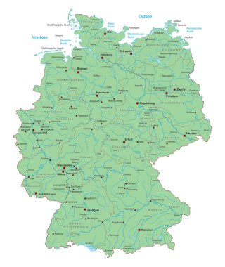 Germany - Map of Germany (high detailed)