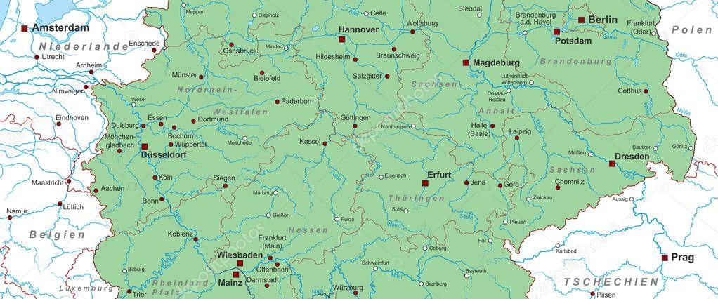 Central Germany Map.Germany Map Central Germany High Detailed Stock Vector C Ii